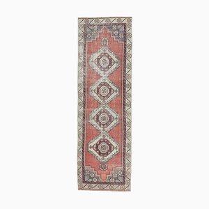 3x9 Handgemachter türkischer Vintage Oushak Teppich aus Wolle