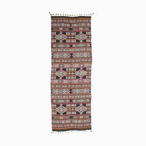 5x15 Vintage Turkish Oushak Handmade Wool Kilim Runner Rug