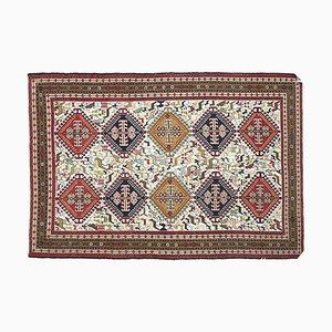 4x6 Vintage Turkish Oushak Handmade Wool Kilim Area Rug