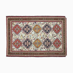 Tappeto Kilim 4xU vintage fatto a mano in lana, Turchia