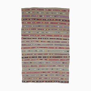 Türkischer Vintage 6x9 Oushak Kelim Wollteppich aus Wolle
