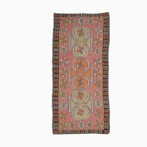 Tappeto 6US12 vintage fatto a mano in lana di Oushak, Kilim, Turchia