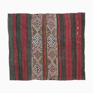 Handgeknüpfter türkischer Vintage 4 × 5 Oushak Kelim Wollteppich