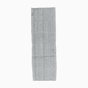 3x7 Vintage Türkisch Kilim Oushak Handgewebter Flachgewebe Teppich aus Wolle