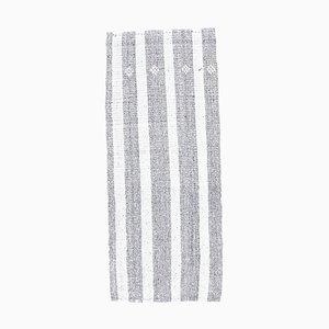 3x6 Vintage Türkisch Kilim Ouschak Handgewebter Flachgewebe Teppich aus Wolle