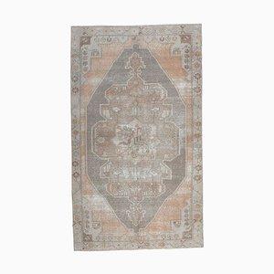 4x8 Antique Turkish Oushak Handmade Wool Oriental Carpet
