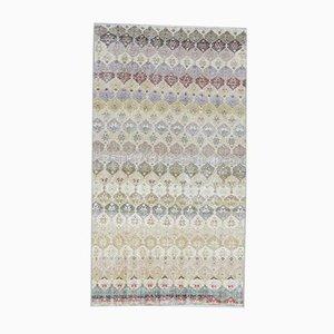Tappeto Oushak vintage fatto a mano in lana colorata, 4x7