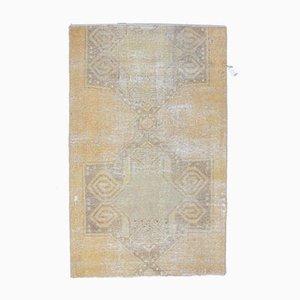 Türkischer Vintage Oushak Vintage 3x5 Orientteppich aus Wolle