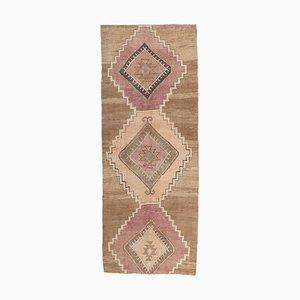 4x10 Vintage Turkish Oushak Handmade Wool Runner Carpet