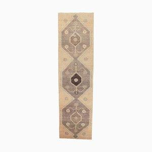 3x12 Vintage Turkish Oushak Handmade Wool Runner Carpet