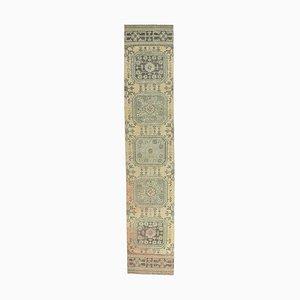 2x11 Vintage Turkish Oushak Handmade Wool Hallway Runner Rug