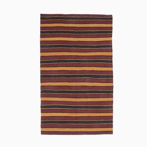 Türkischer Vintage 6x11 Oushak Kilim Teppich aus roter Wolle