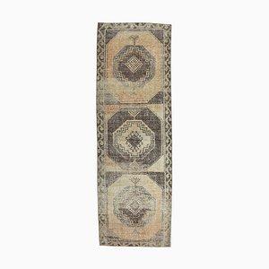 Tapis Oushak 3x10 Vintage Fait Main en Laine