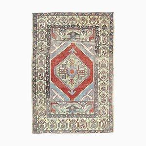 Türkischer Vintage Oushak Handgemachter Vintage 4 × 6 Teppich aus Wolle