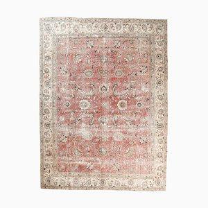 9x13 Vintage Turkish Oushak Handmade Wool Floral Rug