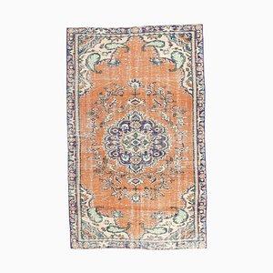 4x7 Vintage Turkish Oushak Handmade Wool Carpet