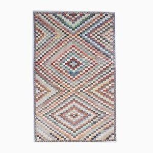 Türkischer Vintage Oushak Handgemacht Wollteppich, 4er Set