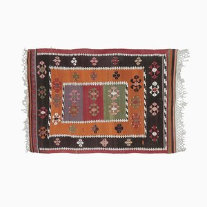 Tappeto piccolo Oushak Kilim vintage, Turchia