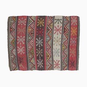 2x3 Türkischer Vintage Kilim Oushak Fußmatte oder Kleiner Teppich