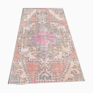 3x6 Handgemachter türkischer Vintage Oushak Teppich