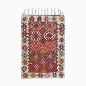 3x5 Vintage Turkish Oushak Doormat or Small Carpet