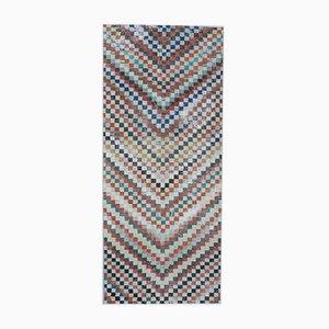 Türkischer Vintage Oushak 4x8 Handgewebter Wollteppich