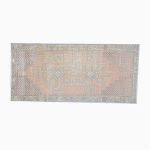 3x9 Vintage Turkish Oushak Handmade Wool Small Area Rug