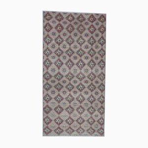 4x8 Vintage Turkish Oushak Handmade Wool Carpet