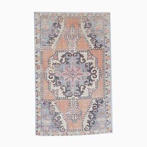 4x7 Vintage Turkish Oushak Handmade Wool Oriental Carpet