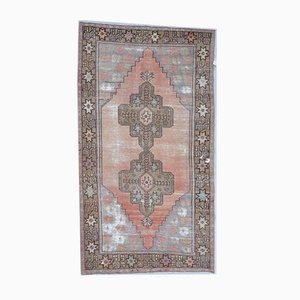 4x8 Vintage Turkish Oushak Handmade Wool Oriental Carpet