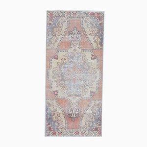 3x7 Handgeknüpfter Orientalischer Vintage Oushak Vintage Teppich aus Wolle in Orange