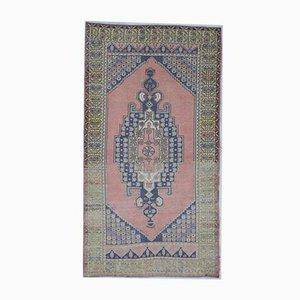 4x8 Vintage Turkish Oushak Handmade Wool Floral Carpet