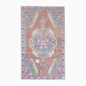 4x7 Vintage Middle East Oushak Handmade Wool Oriental Carpet