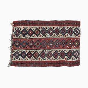 Tappeto piccolo Oushak vintage in lana fatta a mano, 3x5