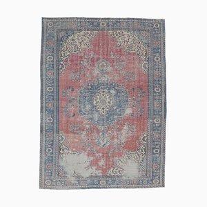 8x11 Handgeknüpfter Oushak Vintage Teppich aus dem Nahen Osten in Rot