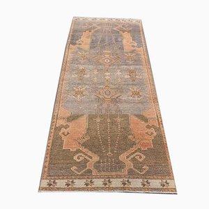 Türkischer Vintage Oushak Wollteppich 3x6 in Braun