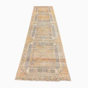 3x11 Türkischer Vintage Oushak Teppich aus Wolle
