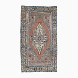 4x8 Vintage Turkish Oushak Handmade Wool Oriental Rug