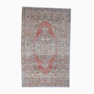 4x6 Vintage Turkish Ethnic Oushak Handmade Wool Rug