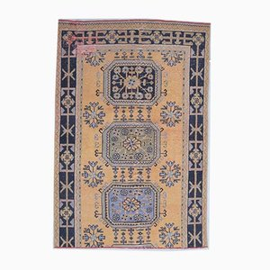 4x6 Vintage Turkish Rug Oushak Handmade Wool Floral Rug