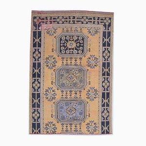 Türkischer Vintage Teppich aus Baumwolle von Oushak