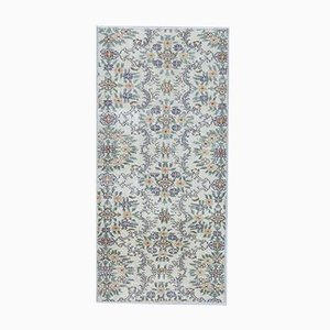 Tappeto Oushak vintage colorato a mano in lana beige, Germania