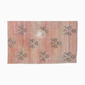 3x5 Vintage Turkish Oushak Small Carpet Handmade in Wool