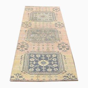 3x6 Türkischer Vintage Oushak Handgewebter Kleiner Teppich