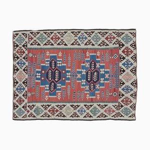 4x5 Vintage Turkish Oushak Kilim Bath Mat or Small Carpet