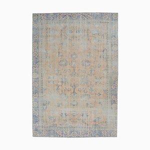 Handgeknüpfter antiker Türkischer Oushak Teppich aus Wolle, 8x11