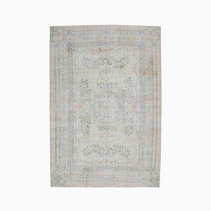 7x11 Vintage Turkish Oushak Handmade Wool Carpet