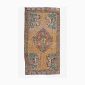 2x3 Türkischer Vintage Oushak Fußmatte oder Kleiner Teppich