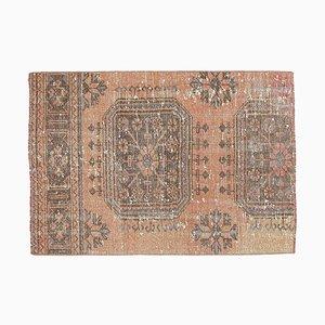 3x4 Vintage Turkish Oushak Doormat or Small Carpet
