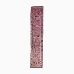 3x13 Vintage Turkish Oushak Handmade Wool Runner Rug